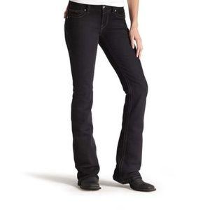Ariat R.E.A.L. Mid Rise Black Boot Cut Jeans 29S